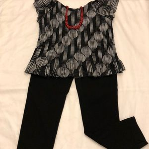 SHARAGANO BLACK STRETCH DRESS PANTS